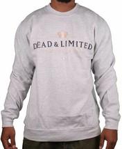 Deadline Grey Dead & Limited Champagne Men's Crew Neck Sweatshirt Sweater NWT