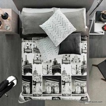 Paris Moments Places Blanket Teens Reversible Gift Sherpa Soft Queen Bedding New - $69.30