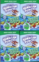 Hawaiian Punch GREEN BERRY RUSH Singles to Go 4 Boxes of 8 Packets in Each Box