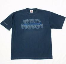 Harley Davidson Acanalado Camisa New York Hombre L Camiseta Azul Fechado... - $28.50