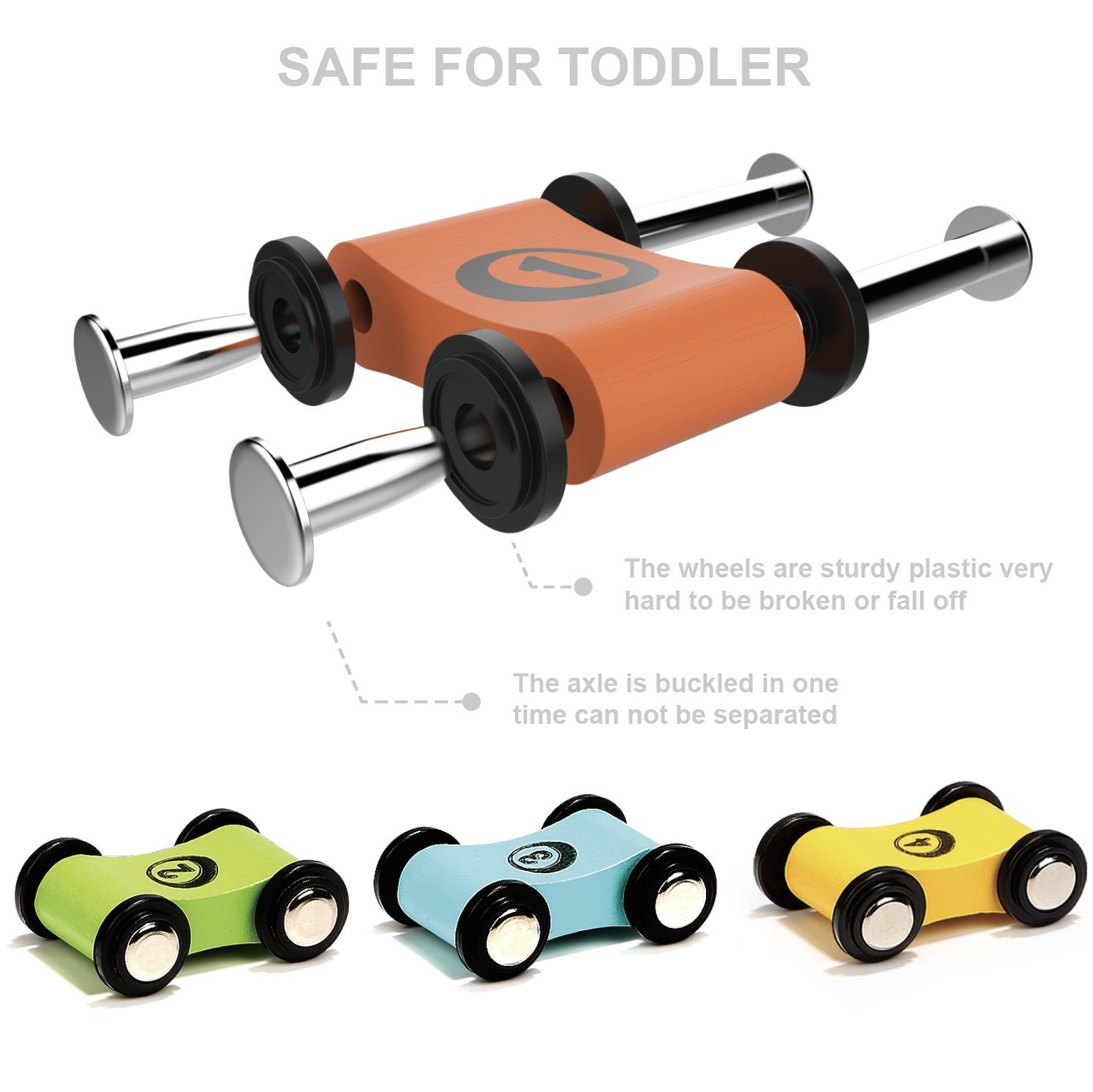 TOP BRIGHT Toddler Toys for 1 2 Year Old Boy and Girl Gifts Wooden Race Track Ca