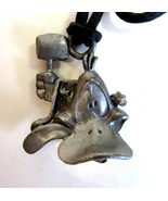 Vintage 1993 Warner Brothers Daffy Duck Pewter Pendant Necklace by Starline - $9.50