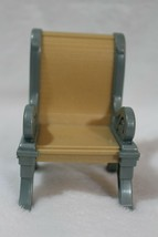 Fisher Price Loving Family Dollhouse 2 Blue Gray Tan Chairs Dining Room - $13.85