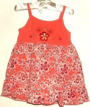 GIRLS ORANGE PRINTED DRESS SIZE 18 MOS. - $3.00