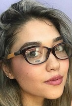New FENDI FF 72/F  53m Havana Rx Womens Eyeglasses Frames Italy  - $129.99