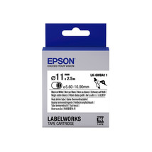 11mm  Black on White - Epson LK-6WBA11 Heat Shrink Tube Tape Cartridges ... - $77.99