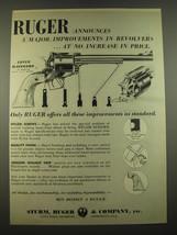 1960 Ruger Super Blackhawk Revolver Ad - Ruger Announces 3 major improvements  - $14.99