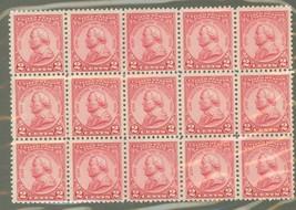 1930 General von Steuben Block of 15 US Postage Stamps Catalog Number 689 MNH