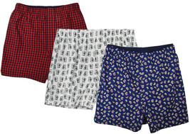 "Gap Mens Red White Blue Allover Print 4"" Boxers 3 Pc Set Sz Medium M 8478-3 - $38.30"
