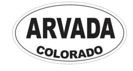 Arvada Colorado Oval Bumper Sticker D7145 Euro Oval - $1.39+