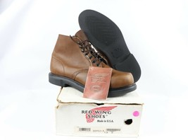Vintage Neuf Red Wing Shoes Hommes 13 E 952 15.2cm Oil Bronzé Cuir Chukk... - $444.69