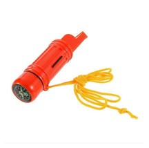 5 in 1 Multi-function Emergency Compass Whistle Camping Hiking Tool AH3