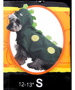 Dog Pet Halloween Costume Dinosaur T-Rex Dogosaurus Green Size Sm. Fetch... - $10.95