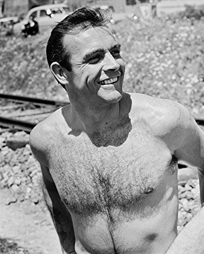 Sean Connery Barechested 1960'S Pin Up B&W 16x20 Canvas Giclee