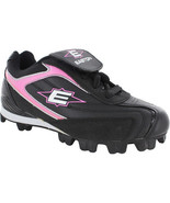 Easton Girl's Baseball Softball Cleats 12 Redline II Low Black Pink Size 2 - $24.30