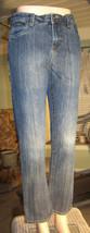"DKNY Jeans Size 14 (Jrs.) Blue Denim Waist 27"" Inseam 28"" Straight Leg - $14.49"