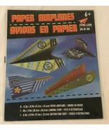 Paper Airplane Making Kit Flying Game Make 8 Paper Planes and Landing Strip - $7.99