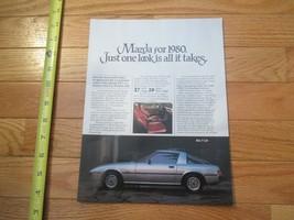 Mazda for 1980 RX7 RX 7 Car auto Dealer showroom Sales Brochure - $9.99