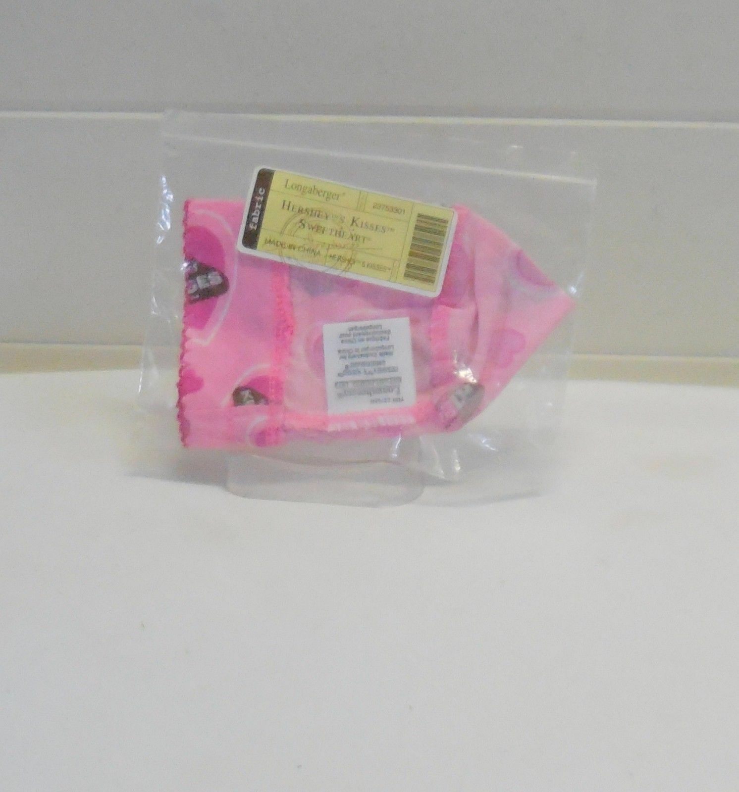 Primary image for Longaberger 2009 Hershey Kisses Trinket Bag Liner Only Pink Valentines
