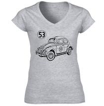 Herbie Beatle - New Cotton Grey Lady Tshirt - $25.43