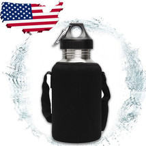 2L Large Stainless Steel Water Bottle Sports Exercise Drinking Kettle Ca... - $453,21 MXN