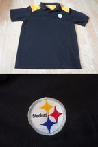 Men's Pittsburgh Steelers L Polo Collard Shirt NFL Team Apparel - $6.79