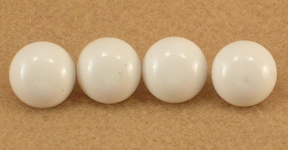Small White Buttons with Shanks 1/2 Inch Across Crafts Sewing Needs Group of 4