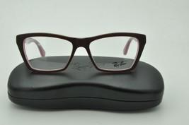 Ray Ban RB 5316 Eyeglasses 5386 Matte Dark Brown on Pink 53mm + Case - $60.73