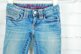 Gap Kids Girl's Jeans Size 4 Regular - 99% Cotton Embroidered Back Pockets Pink image 3