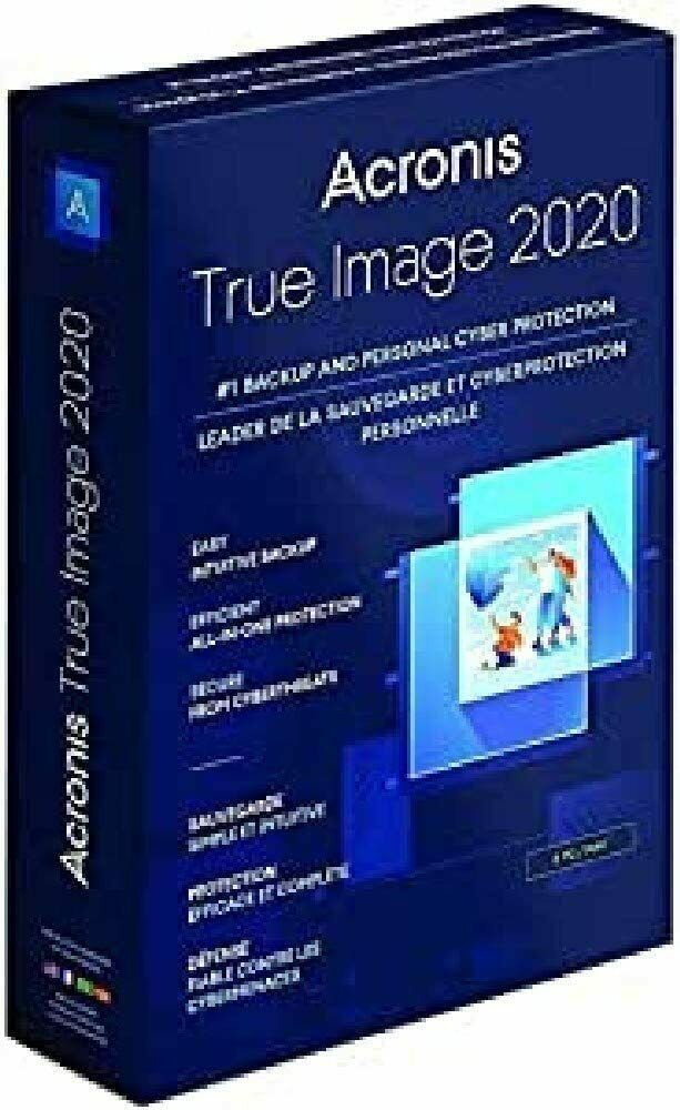 ACRONIS TRUE IMAGE 2020 - 3 DEVICE WINDOWS/MAC - PERPETUAL LICENSE - Retail box - $44.84