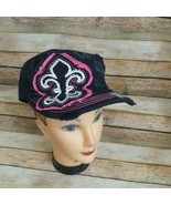 Rain Bow Women Embroidered Embellished Hat 100% Cotton - $11.39