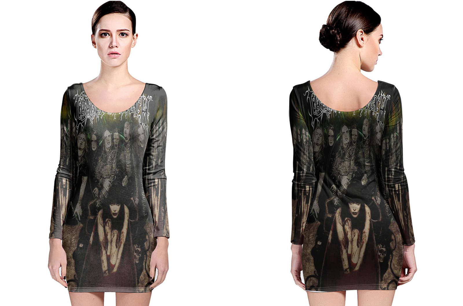 Cradle of filth long sleeve bodycon dress