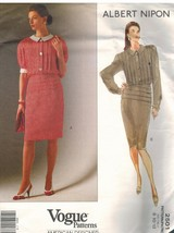 2501 Uncut Vogue-Schnittmuster Misses Kleid Albert Nipon Amerikanisch De... - $10.00