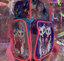 Lisa Frank Roxie Rollie Rare Both White Fur! Mini Backpack Earlier R+R Design image 2