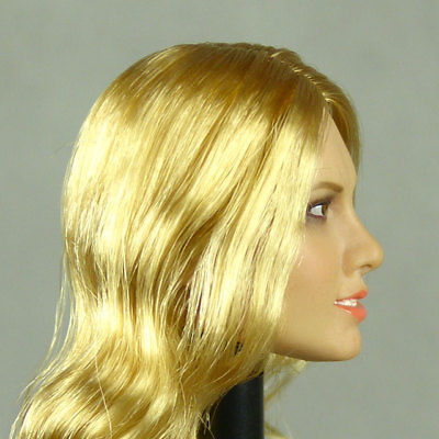1//6 Phicen Flirty Girl TBLeague Kumik Female Blonde Long Hair Head Sculpt