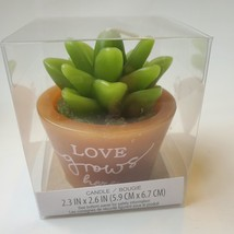 """Succulent Shaped Candles, 2.6"""", Love Grows, Happy Place, Live What You Love image 8"""