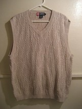 CHAPS RALPH LAUREN, sweater vest v-neck, size xl - $17.88