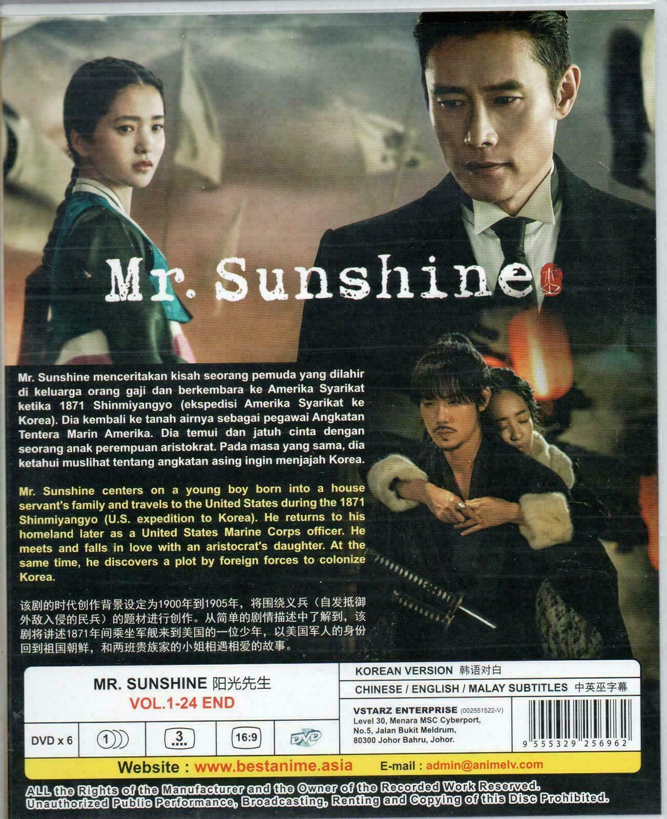 Korean Drama DVD Mr. Sunshine Vol.1-24 End (2018) English Sub Ship From USA