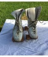 vintage CHICAGO HYDE ladies roller skates wooden wheels size 6? - $19.80