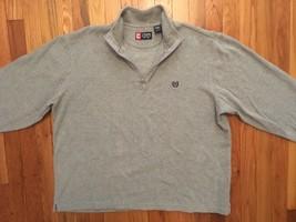Chap Ralph Lauren Gray Grey Long Sleeve Pullover Zip Up Sweatshirt Sweat... - $34.99