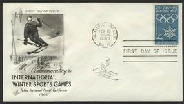 #1146 4c 1960 Winter Olympics, Art Craft FDC **ANY 4=FREE SHIPPING** - $1.00