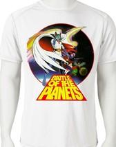 Battle Planets Dri Fit graphic T-shirt microfiber superhero anime Sun Shirt tee image 1