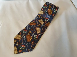 Alynn Neckwear 100% Silk Men's Neck Tie Doctor Novelty Navy Blue - $53.93
