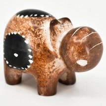 Crafts Caravan Soapstone Speckled Brown Hippopotamus Hippo Figurine Made Kenya
