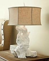 "31"" White Plaster Coastal Driftwood Table Lamp by Cyan Design Beach Home... - $519.54"