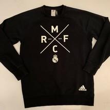 Adidas Climalite Cotton Real Madrid Mens Sweatshirt Black Size Medium EUC - $14.95