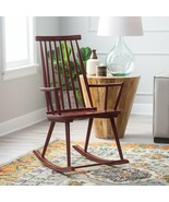 Red Wood Windsor Rocking Chair Classic Country Farmhouse Nursery Rocker ... - $118.30