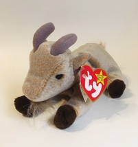 TY Goatee Original Beanie Babies Plush Toy Collectible Retired Tag Error... - $300.00