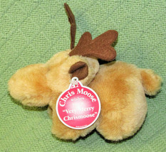 VINTAGE ENESCO CHRIS MOOSE CHRISTMAS PLUSH 1995 WITH TAG MERRY CHRISMOOS... - $19.80
