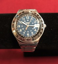 Swatch Irony Swiss Military Style Unisex Watch Blue Dial - $46.65